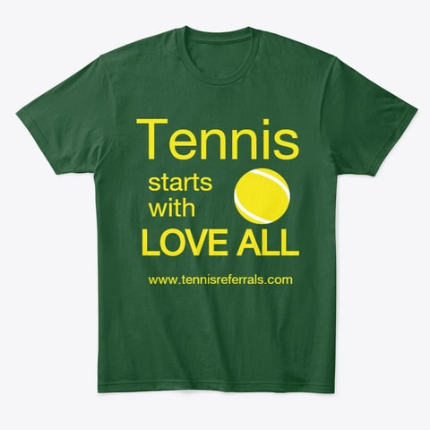 T-shirt Tennis starts with love all